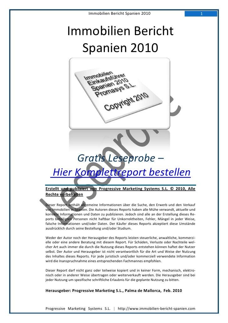 Immobilien Bericht Spanien 2010                                        1                 Immobilien Bericht               ...