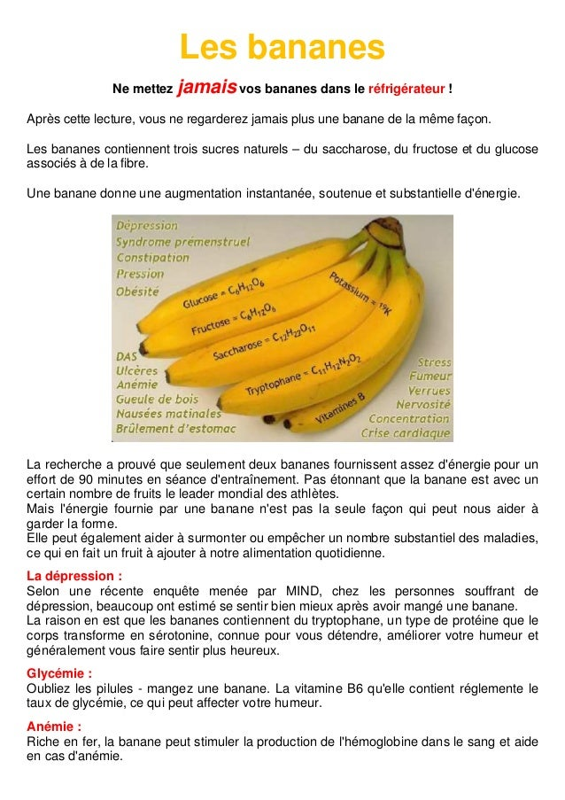 Les bananes Ne mettez jamais vos bananes dans le réfrigérateur ! Après cette lecture, vous ne regarderez jamais plus une b...