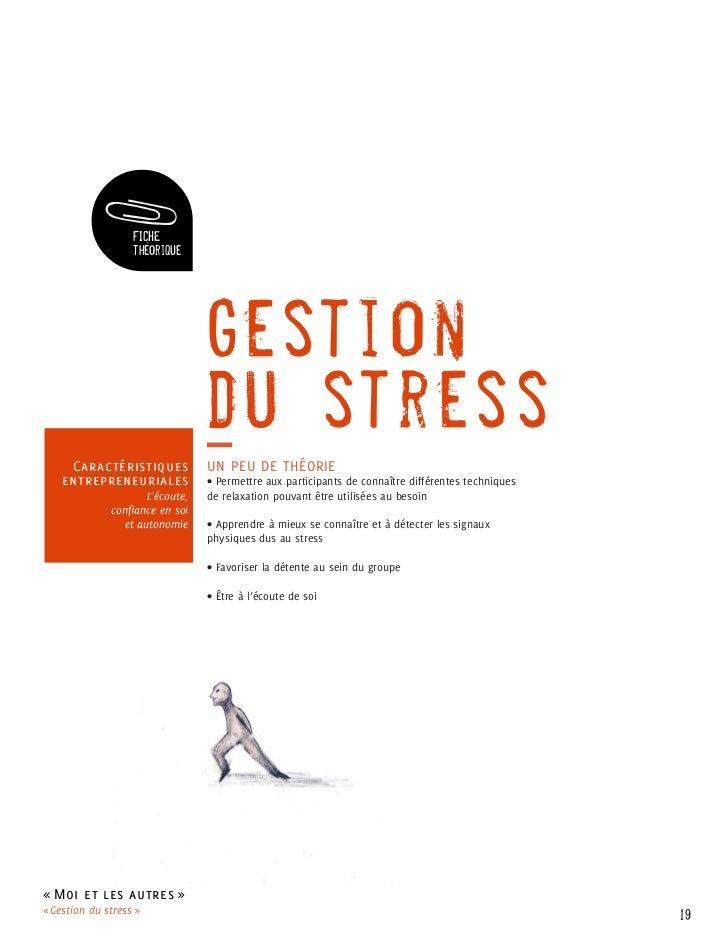 FICHE                   théorique                                 Gestion                                 du stress     Ca...