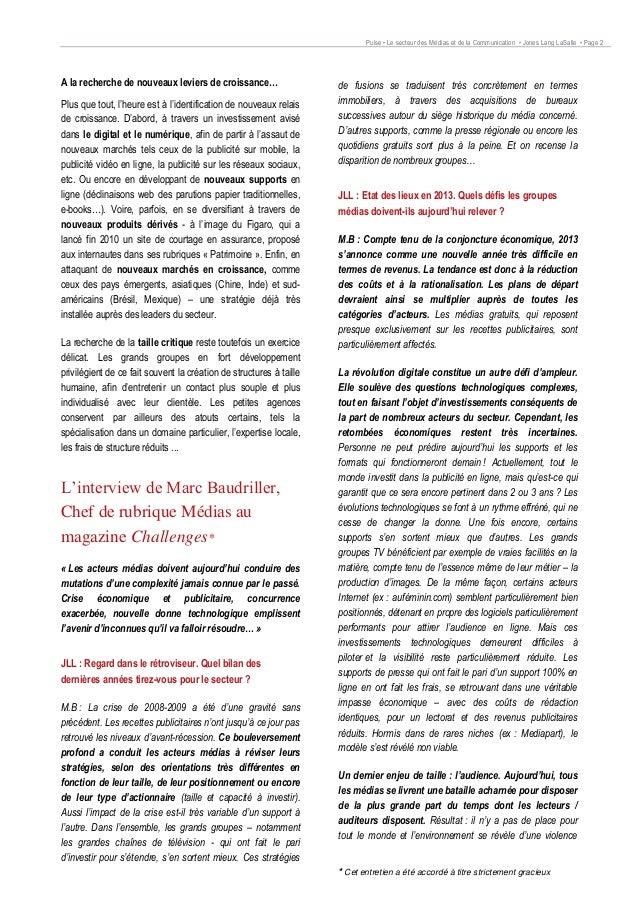 Immobilier d'entreprise : Le secteur des médias et de la communication Slide 2