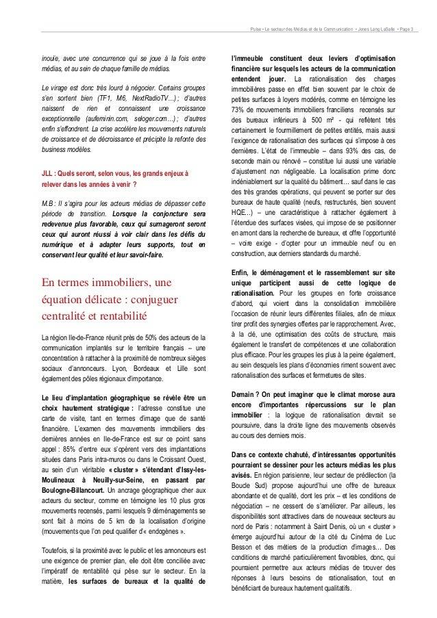 Immobilier d'entreprise : Le secteur des médias et de la communication Slide 3