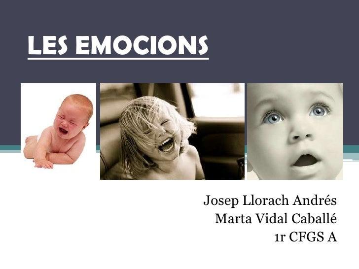 LES EMOCIONS<br />Josep Llorach Andrés<br />Marta Vidal Caballé<br />1r CFGS A<br />