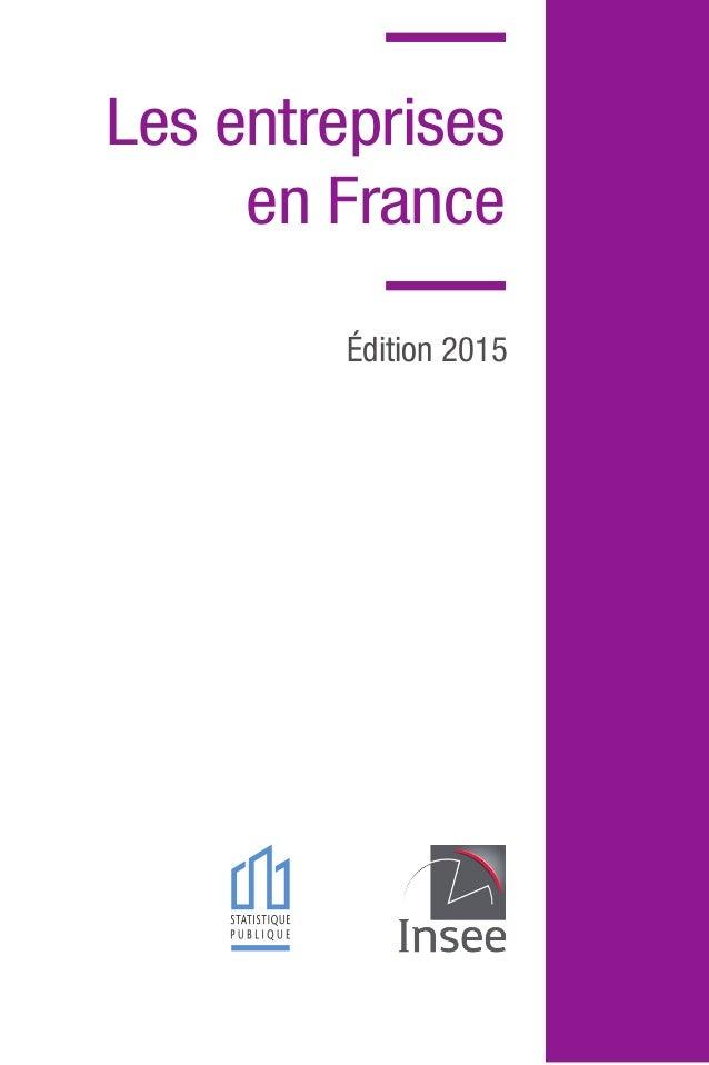 Les entreprises en France Édition 2015