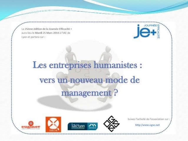 Programme des tables rondes de la JE+ 2014 8h45 : Discours d'entrée Table 1 : 9h-10h15 « Découverte des entreprises humani...