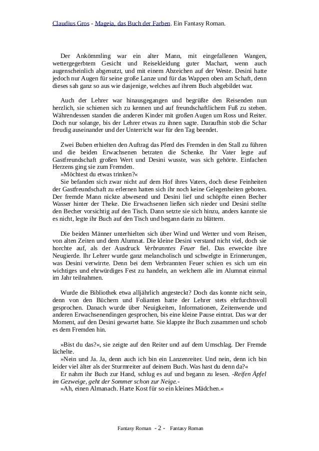 Leseproben zu: Mageia, das Buch der Farben. Fantasy Roman: Auf der Sc…