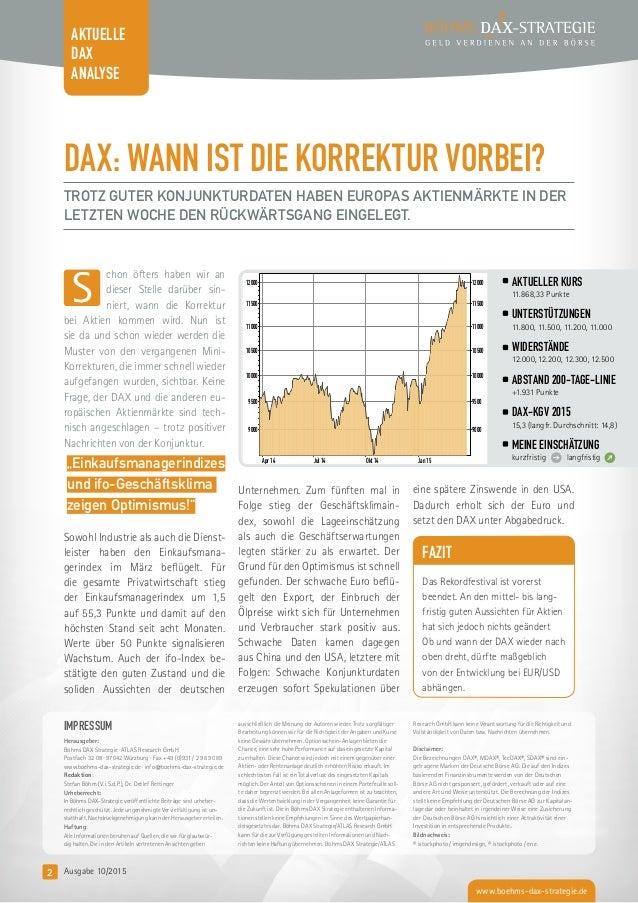 Leseprobe kostenfreier Börsenbrief Böhms DAX-Strategie Slide 2