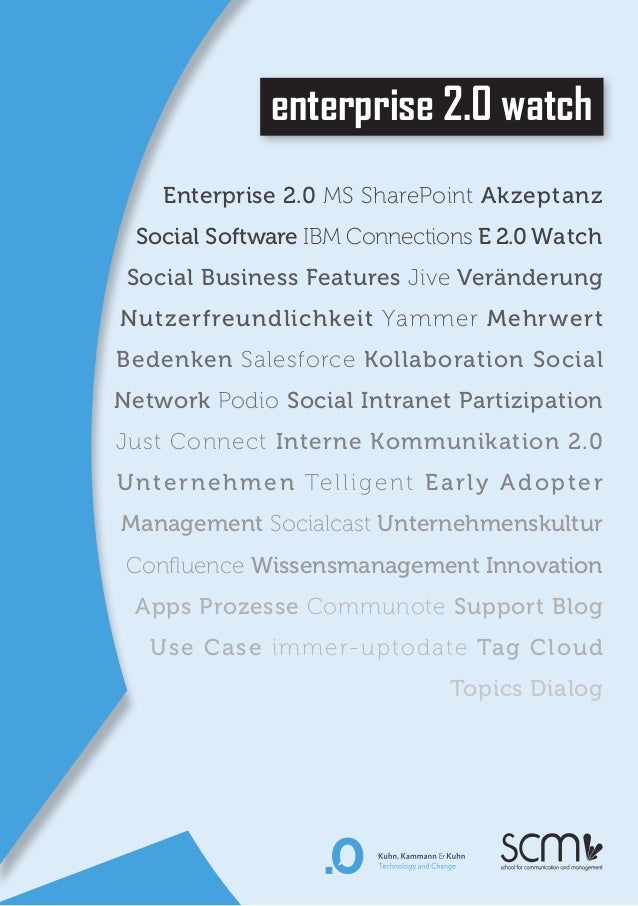 enterprise 2.0 watchEnterprise 2.0 MS SharePoint AkzeptanzSocial Software IBM Connections E 2.0 WatchSocial Business Featu...