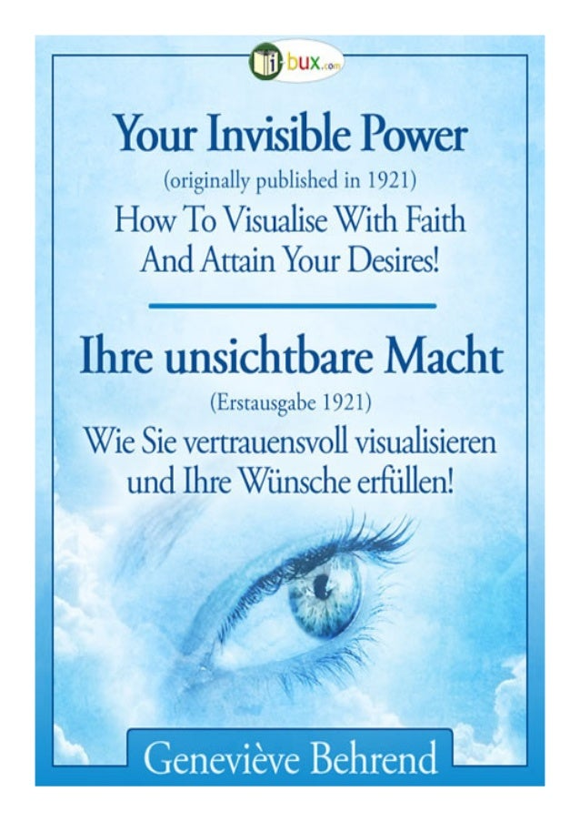 Table of Contents Imprint (German)	  1  Navigation tips (German)	2 About Mrs Geneviève Behrend	  6  Foreword	  8  Chapter ...