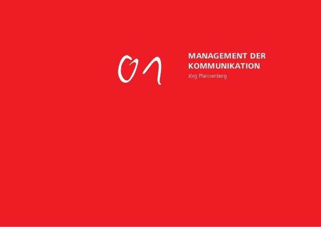 01 Management der Kommunikation Jörg Pfannenberg