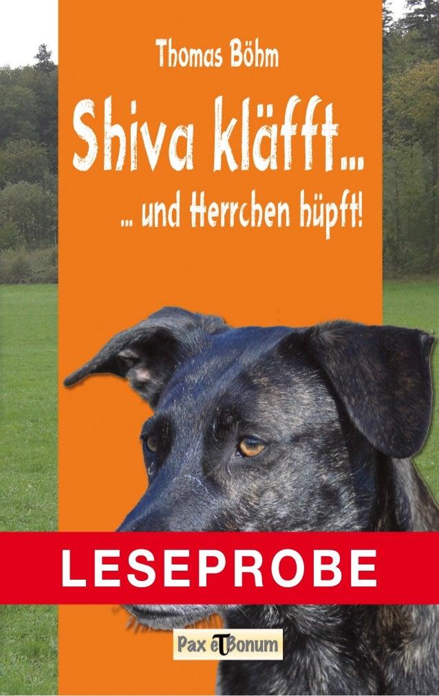 "Leseprobe Buch: ""Shiva kläfft"" bei Pax et Bonum Verlag Berlin"