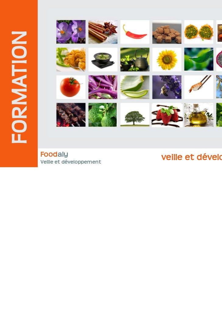 FORMATION            Foodaly                   veille et développement            Veille et développement