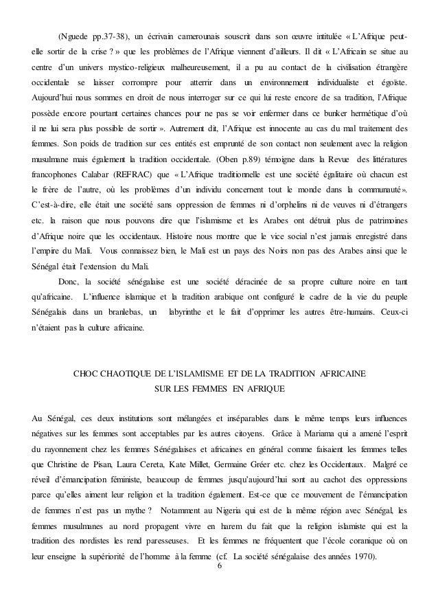 PDF BA LETTRE DE LONGUE TÉLÉCHARGER SI MARIAMA UNE