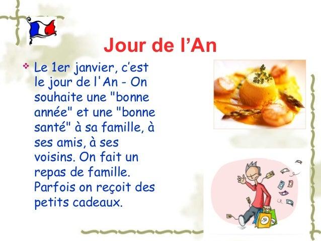 """Jour de l'An   Le 1er janvier, c'est    le jour de lAn - On    souhaite une """"bonne    année"""" et une """"bonne    santé"""" à sa..."""