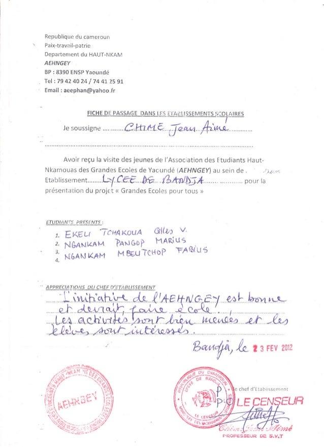 Republique du cameroun Paix-travail-patrieDepartement du HAUT-NKAMAEHNGEYBP : 8390 ENSPYaoundéTel: 79424024/74412591Email:...