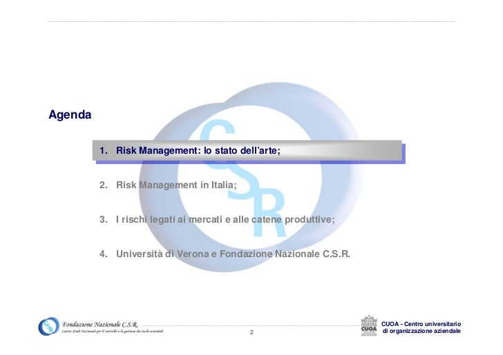 risk management at dell La gestione del rischio (in inglese risk management)  cinque sono i passi così descritti in un progetto originario dell'australia e della nuova zelanda.