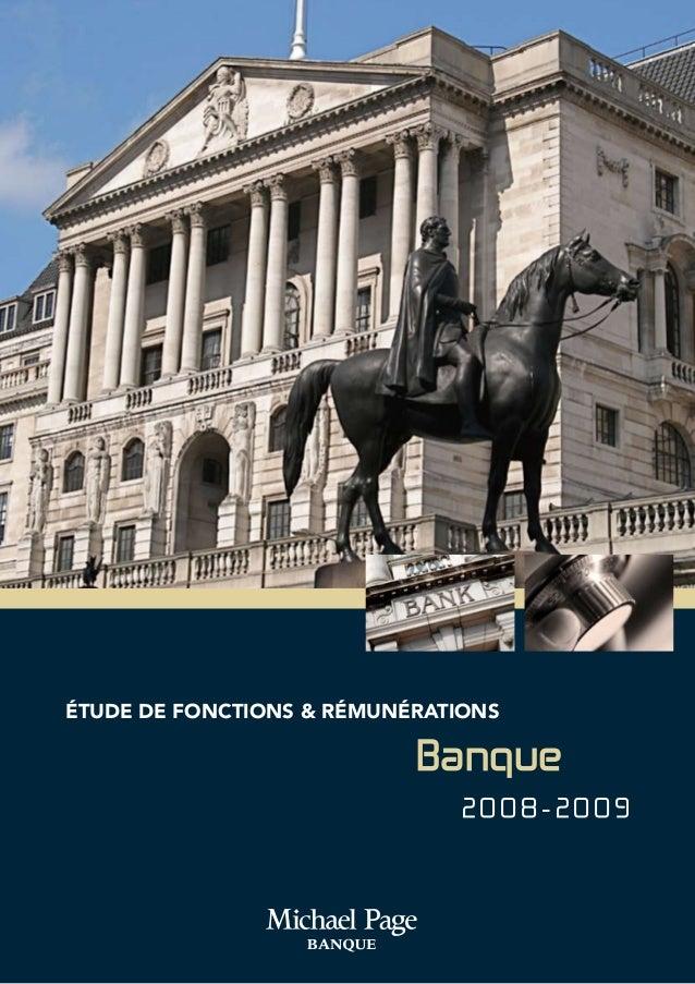éTUDE DE FONCTIONS & RÉMUNÉRATIONS Banque 2 0 0 8 - 2 0 0 9