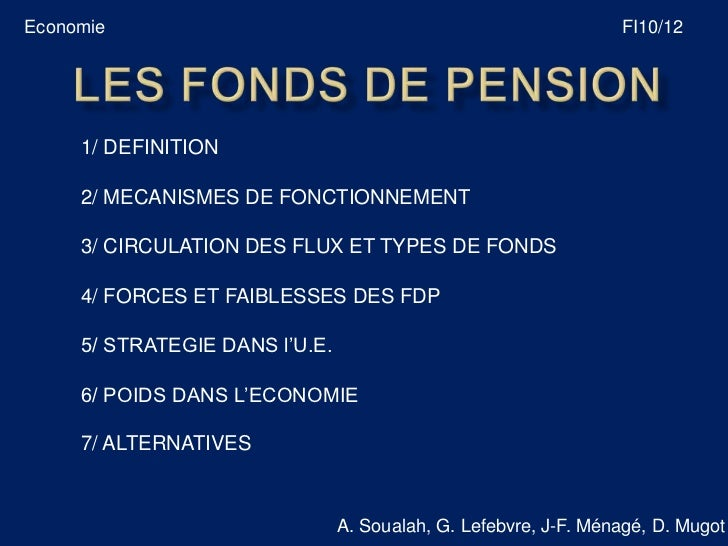 Economie                                                         FI10/12     1/ DEFINITION     2/ MECANISMES DE FONCTIONNE...