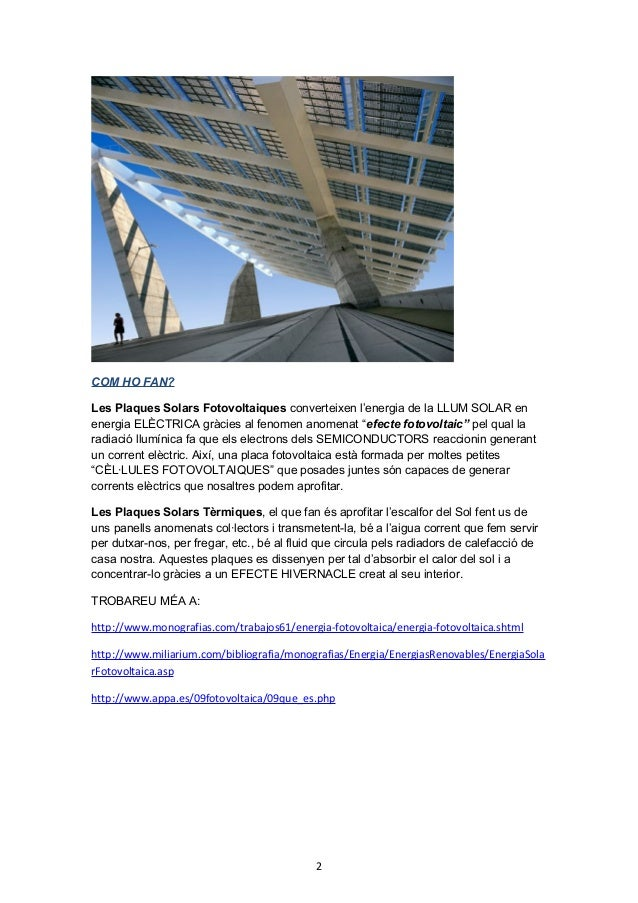 Les fonts de l 39 energia for Plaques solars termiques