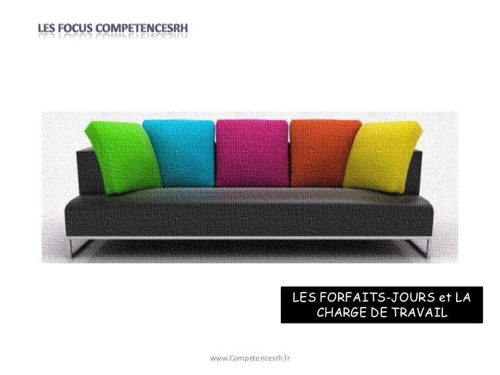 LES FORFAITS-JOURS et LA                          CHARGE DE TRAVAILwww.Competencesrh.fr