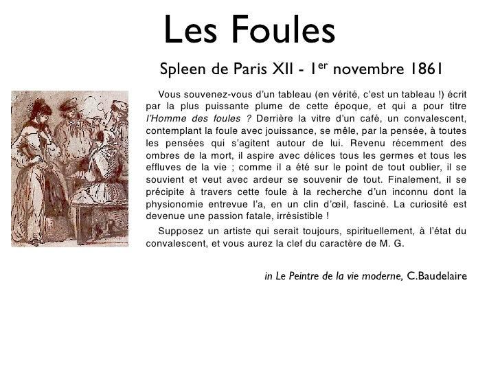 Les Foules    Spleen de Paris XII - 1er novembre 1861    Vous souvenez-vous d'un tableau (en vérité, c'est un tableau!) é...