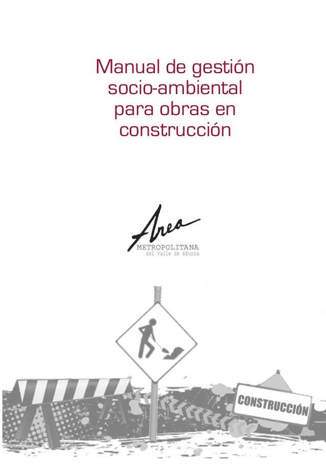 Manual de gestión socio-ambiental para obras en construcción