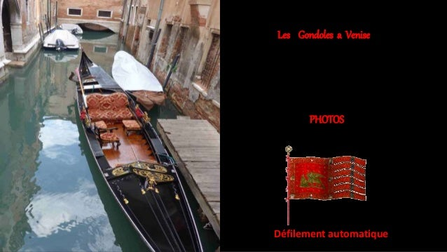 Les Gondoles a Venise PHOTOS Défilement automatique