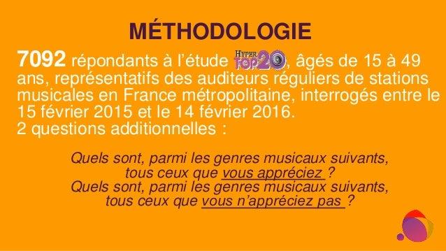 Les goûts musicaux des français par région par HyperWold, Juin 2016 Slide 3