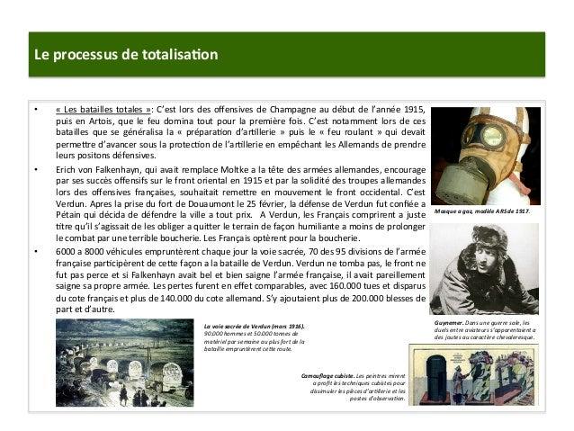 Le  processus  de  totalisa)on   • «  Les  batailles  totales  »:  C'est  lors  des  offensives  ...