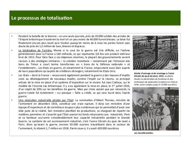 Le  processus  de  totalisa)on   • Pendant  la  bataille  de  la  Somme  –  en  une  seule  j...