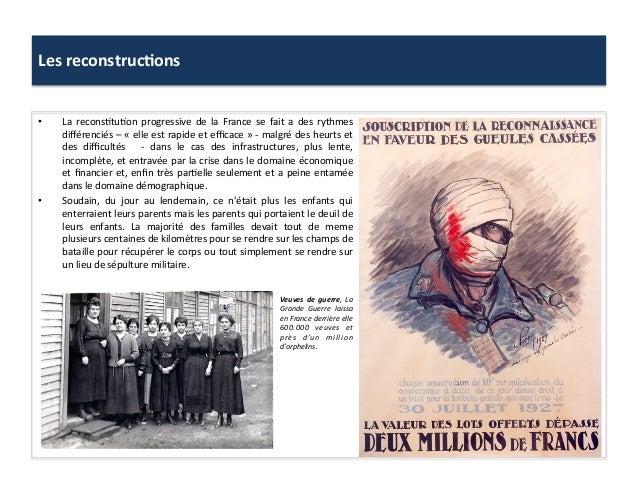 Les  reconstruc)ons     • La   recons:tu:on   progressive   de   la   France   se   fait   a   de...