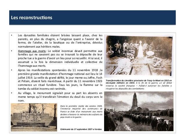 Les  reconstruc)ons     • Les   dynas:es   familiales   étaient   brisées   laissant   place,   chez...