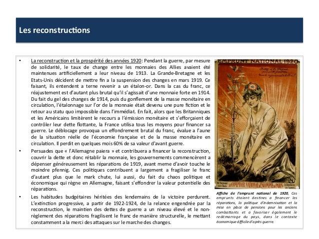 Les  reconstruc)ons     • La  reconstruc:on  et  la  prospérité  des  années  1920:  Pendant  la...