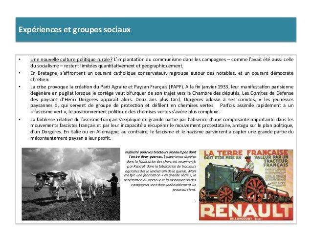 Expériences  et  groupes  sociaux   • Une  nouvelle  culture  poli:que  rurale?  L'implanta:on  du  ...