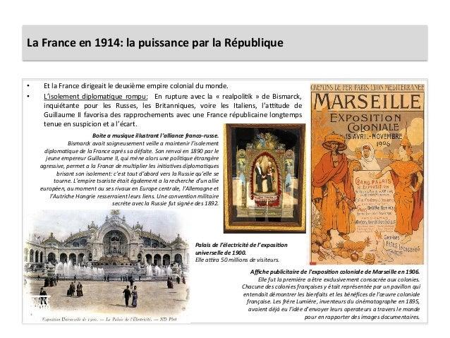 La  France  en  1914:  la  puissance  par  la  République   • Et  la  France  dirigeait  le  ...