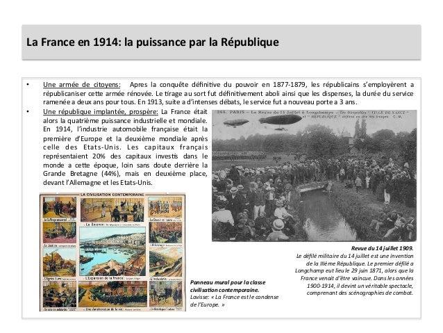 La  France  en  1914:  la  puissance  par  la  République   • Une   armée   de   citoyens:    ...