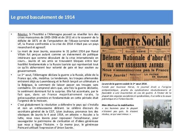 Le  grand  basculement  de  1914   • Résolus:  Si  l'hos:lité  a  l'Allemagne  pouvait  se  révei...