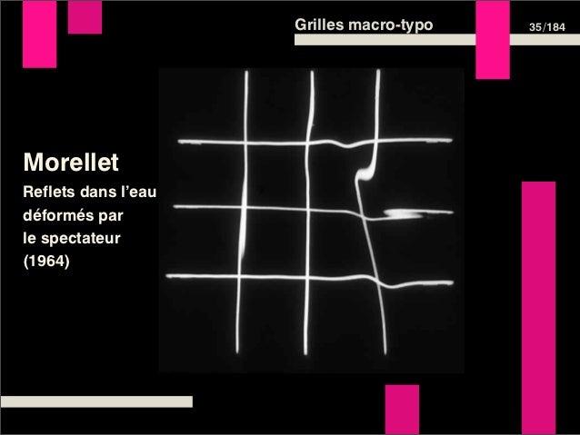 Grilles macro-typo   35 /184MorelletReflets dans l'eaudéformés parle spectateur(1964)