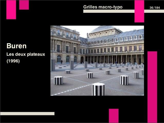 Grilles macro-typo   36 /184BurenLes deux plateaux(1996)