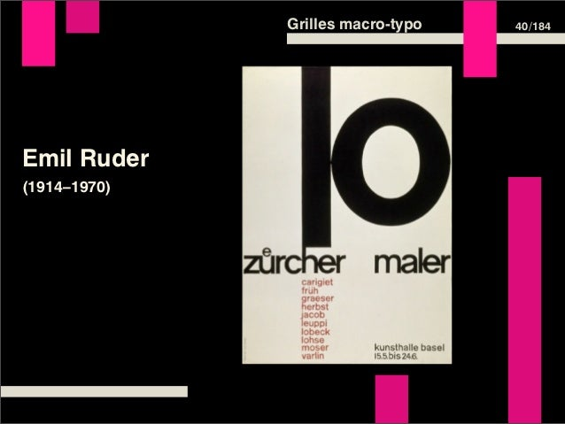 Grilles macro-typo   40 /184Emil Ruder(1914–1970)