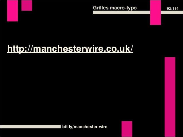 Grilles macro-typo          110 /184Grille horizontale  p   /* le body est fixé à 14 pixels */  {      font-size: 1em; /* ...