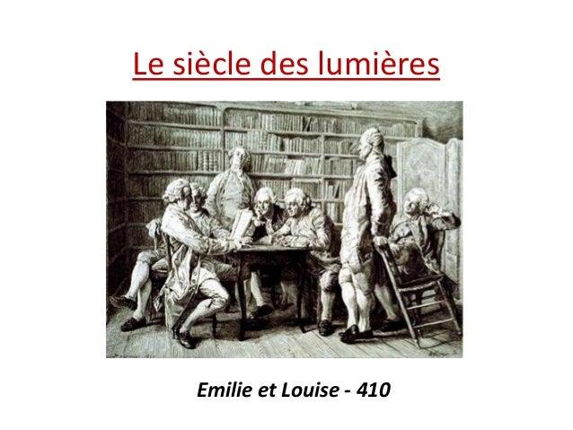 Le siècle des lumières  Emilie et Louise - 410