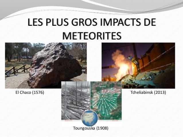 Présentation SMGG : Les impacts météoritiques Slide 2