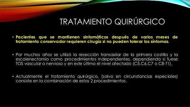 RESECCIÓN TRANSAXILAR DE LA PRIMERA COSTILLA + ESCALENECTOMÍA TRANSCERVICAL