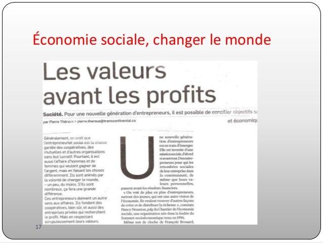 Économie sociale, changer le monde  17
