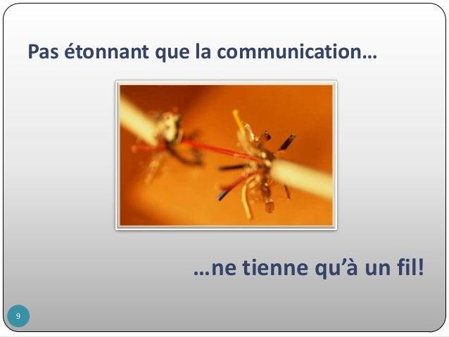 Pas étonnant que la communication…  …ne tienne qu'à un fil! 9