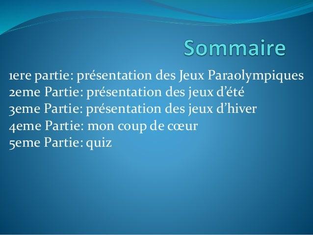 Les jeux paralympiques  Slide 2