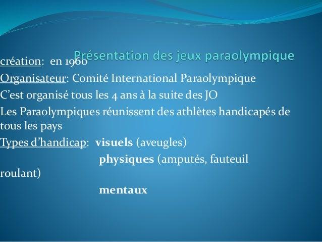 Les jeux paralympiques  Slide 3