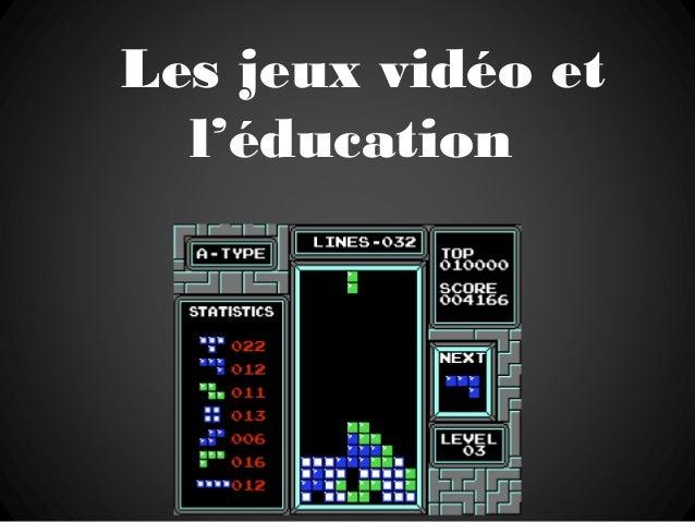 Les jeux vidéo et l'éducation