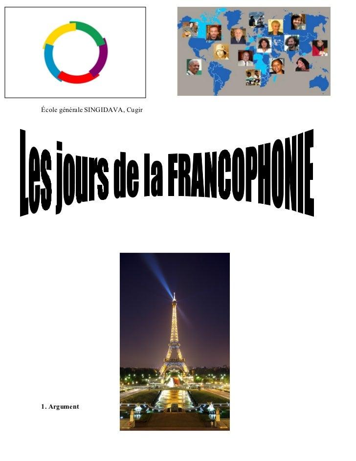 Les jours de la francophonie