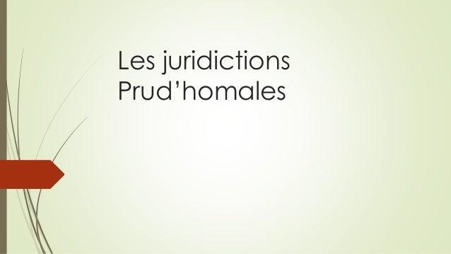 Les juridictions Prud'homales